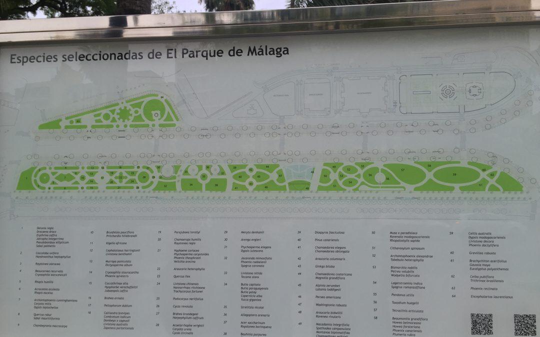 Visita al Parque de Málaga
