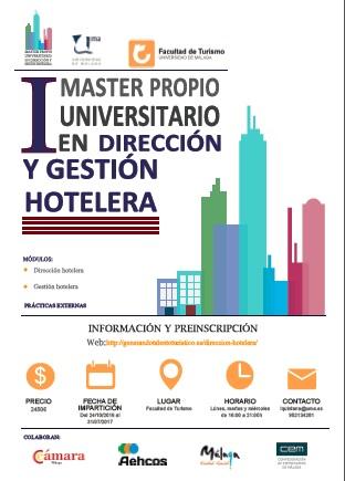 I Master propio en Dirección y Gestión Hotelera