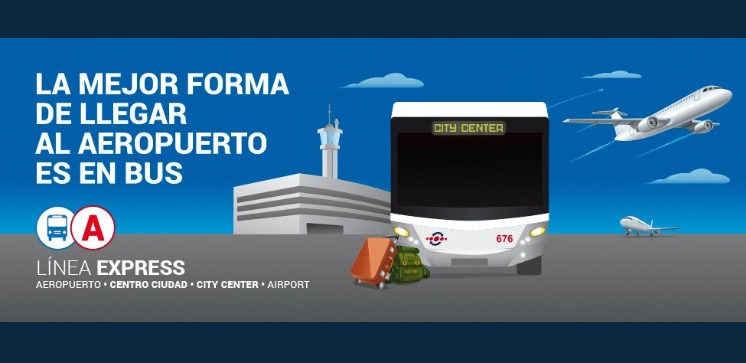 Servicio 24 horas Bus Málaga – Aeropuerto Bus service Málaga center – Airport 24 hours