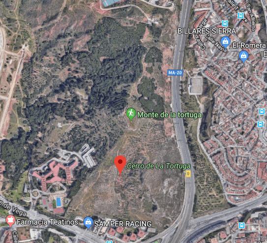 Hiking trail overlooking Malaga