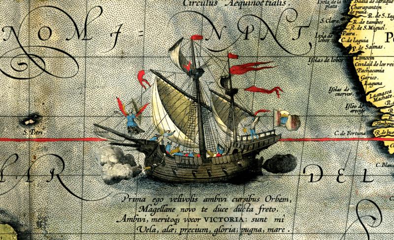 La Nao Victoria en las costas malagueñas