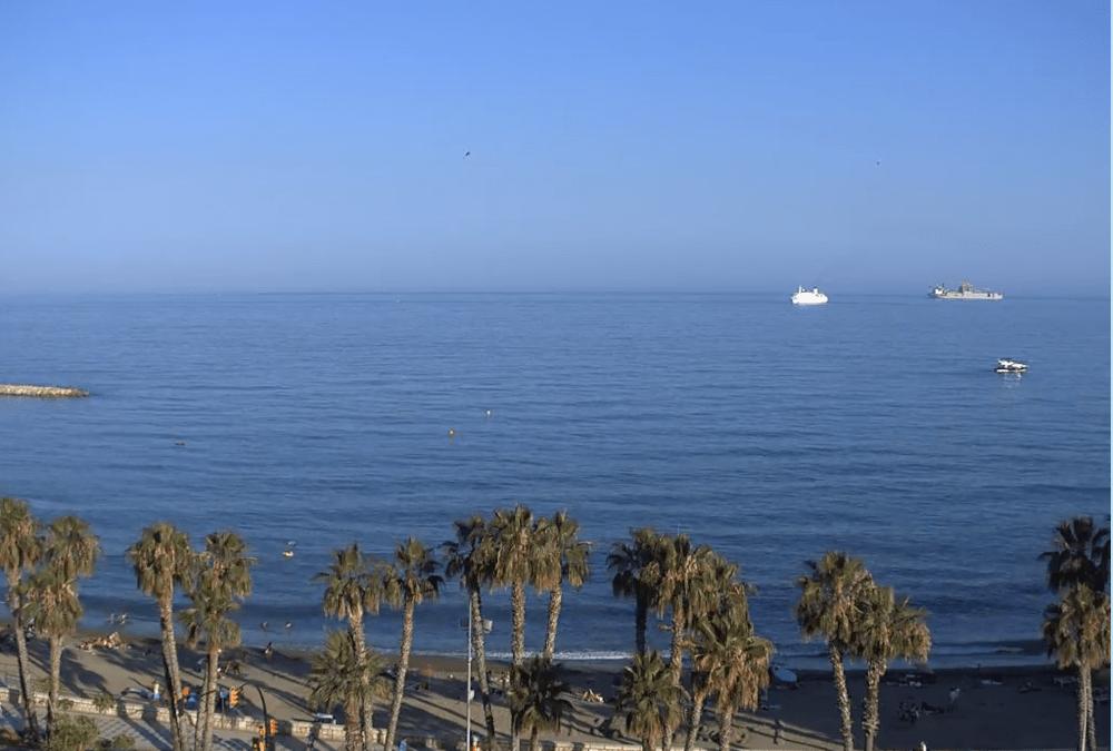 En directo, webcam de la Playa de La Malagueta