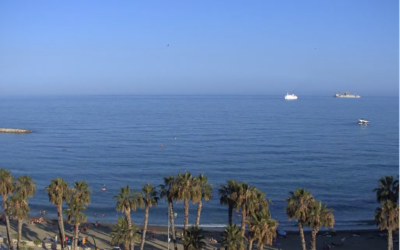 Live, webcam from La Malagueta Beach